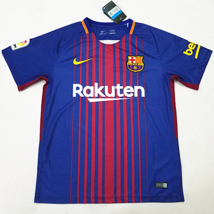 Barcelona 2017-18 home soccer uniforms