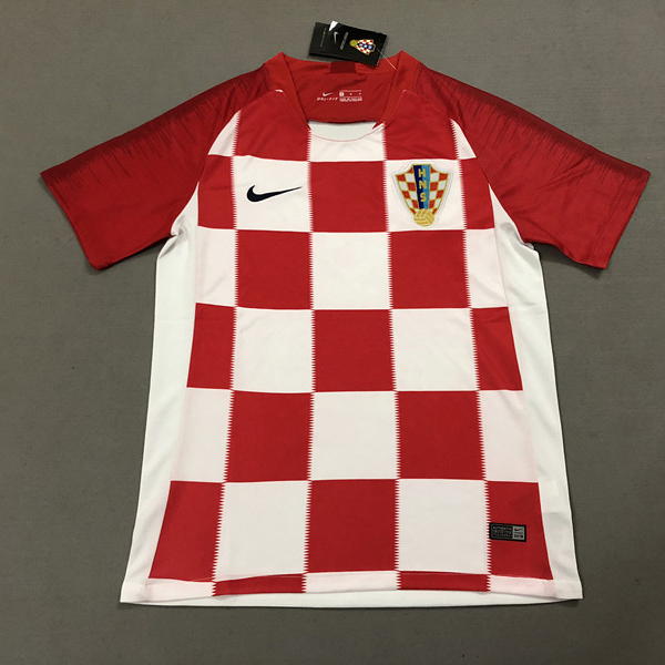 Croatia 2018 world cup home soccer jersey